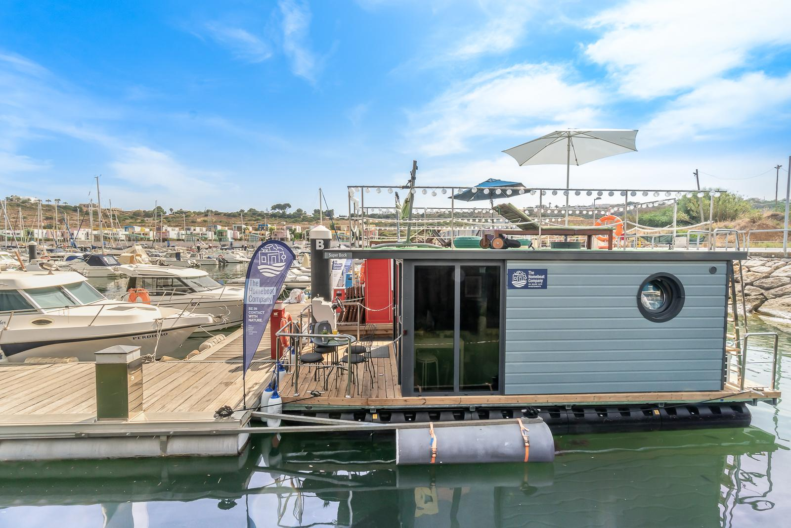 This Albufeira houseboat is among the best places to stay Algarve Portugal holidays